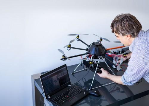 Drohneneinsatz wird vorbereitet